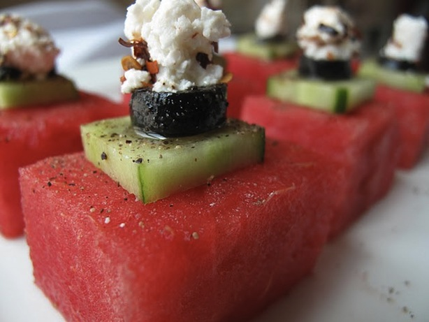 deconstructed watermelon and feta salad from journeykitchen's flickr