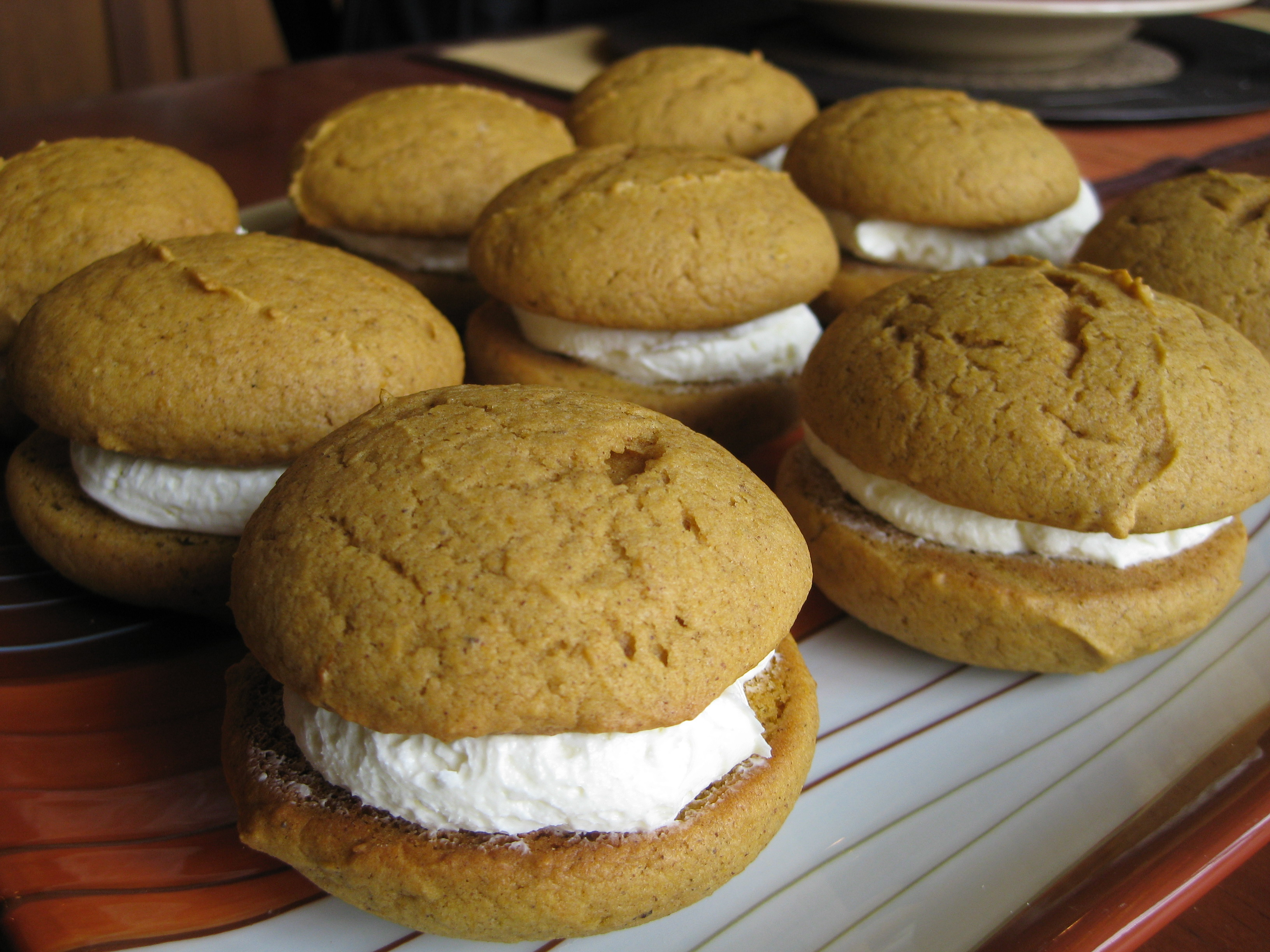 Pumpkin whoopies! (from brooklynimbecile.wordpress.com)