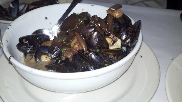 pan roasted mussels in marsala and pancetta