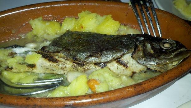 buttered saffron grilled trout