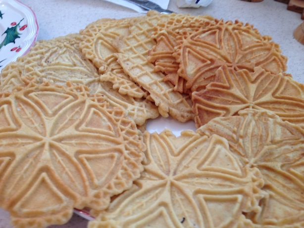 Pizzelle, Italian traditional cookies
