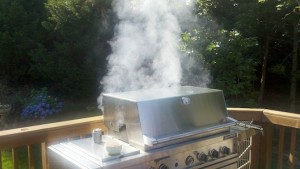 Propane Gas Grill Smoking