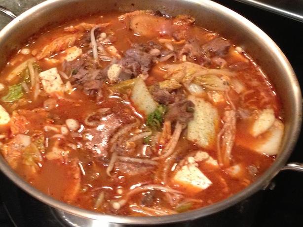 Korean Spicy Pork Neck Stew