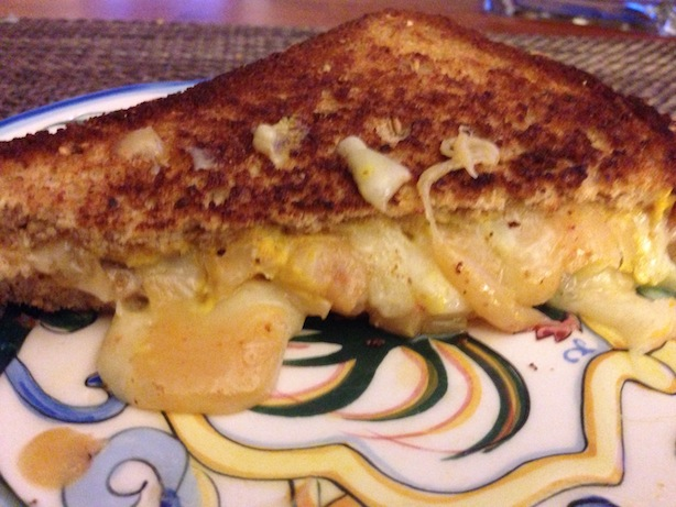 Upclose cheesy habanero cheddar sandwich