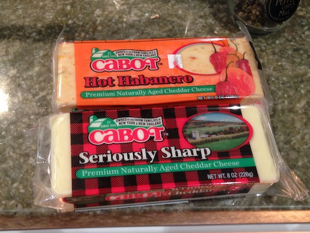 The cabot cheeses