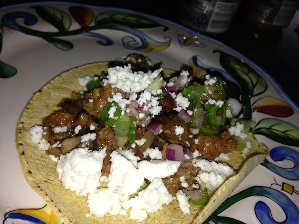 Chorizo and Mushroom Taco