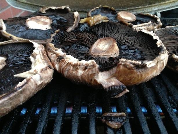 Grilling portobellos