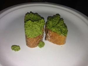 Broccoli pesto crostini