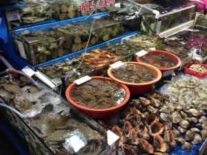 Korean wholesale fish market