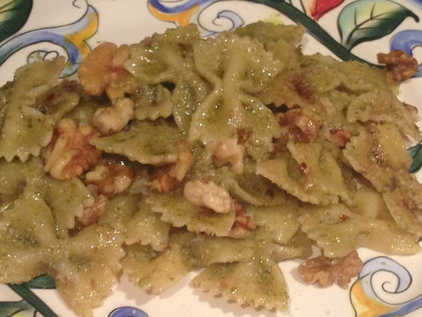 Broccoli pesto farfalle