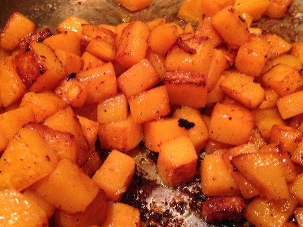 butternut squash with nutmeg and chiptole powder