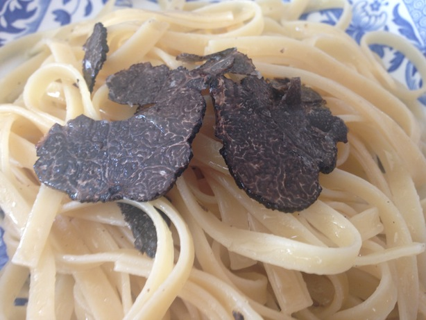 black truffle and butter pasta