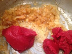 Roux and tomato paste