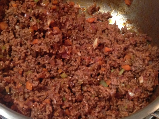 The ground meat mixture