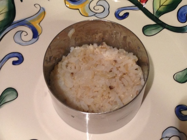 Rice in ring mold